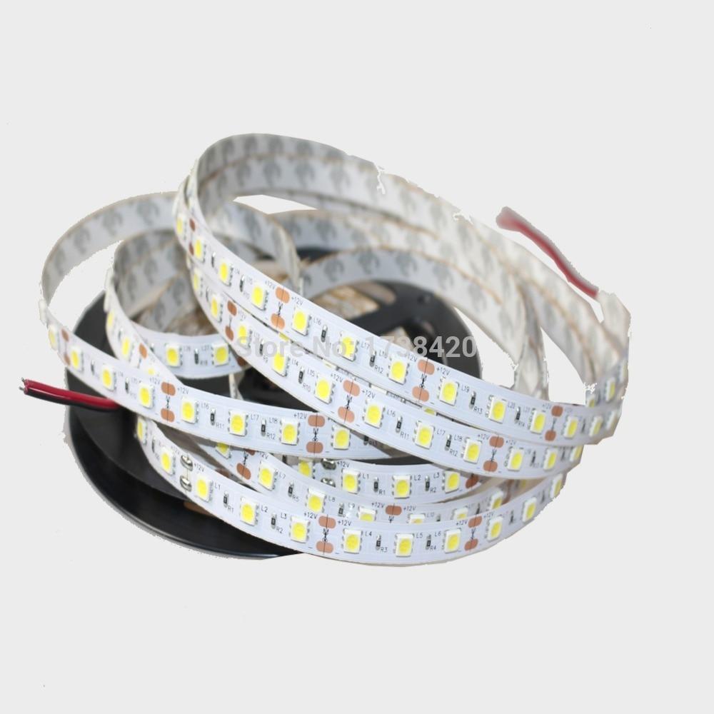RGB LED Strip 5050 SMD 12V flexibele neonlint 60 LEDs / m 1 Meter RGB, Wit, Wit warm, Blauw, Groen, Rood, Geel, Gratis Verzending