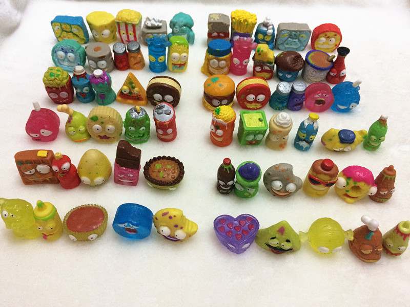 50Pcs/lot Popular Cartoon Anime Action Figures Toys HOT Garbage The Grossery Gang Model Toy Dolls Children Christmas Gift 6pcs set disney trolls dolls action figures toys popular anime cartoon the good luck trolls dolls pvc toys for children gift