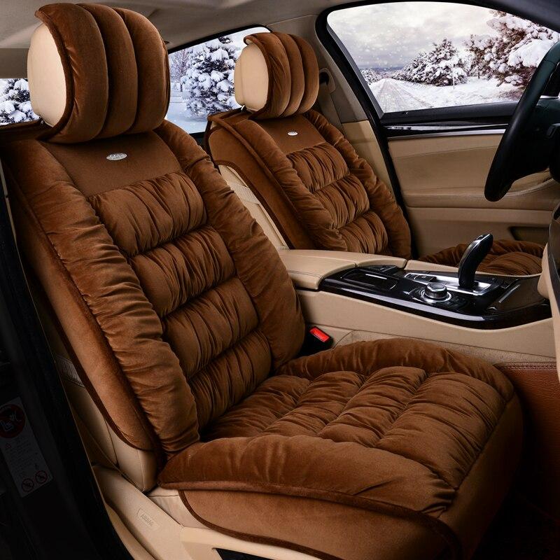 3D Fully Enclosed Short Plush Seat Cover Thermal Non-Slip Cushion For Toyota Camry 40 Corolla RAV4 Verso FJ Land Cruiser LC 200