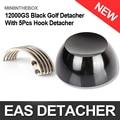 1Pc 12000GS Universal Strong Magnet Golf EAS Hard Tag Detacher Remover Black With 5Pcs Tag Hook Detacher EAS System