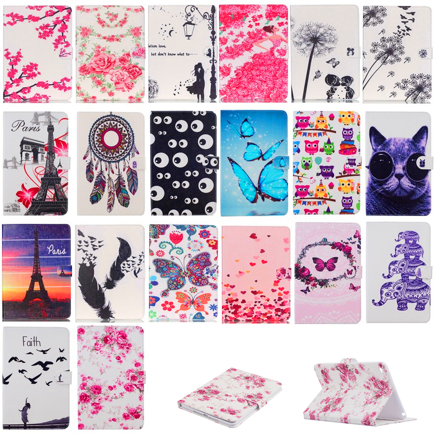 Flip PU leather Case For Apple IPad Mini 4 Cases Dandelion plum blossom Flowers Tablet stand smart cover for ipad mini4 #