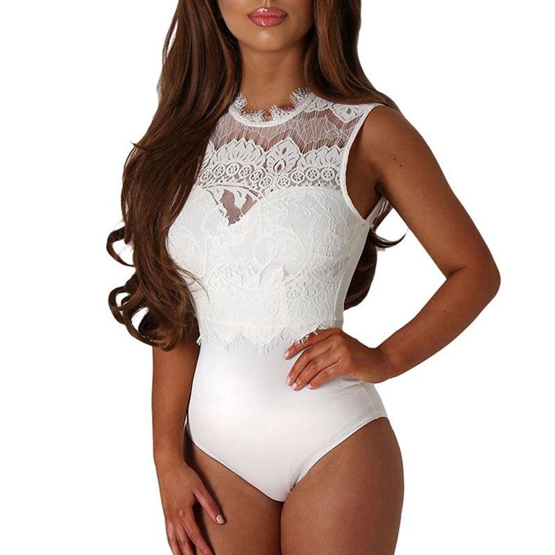 Turtleneck bodysuit lace plus size body dentelle hollow out bodysuit women manga larga bodycon mini playsuits and jumpsuits