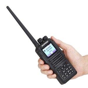 Image 2 - 2 Pcs Baofeng DM 1701 ווקי טוקי הכפול זמן חריץ DMR דיגיטלי Tier1 & 2 נייד רדיו ו sms פונקציה של DM 5R DM 1701 רדיו + USB