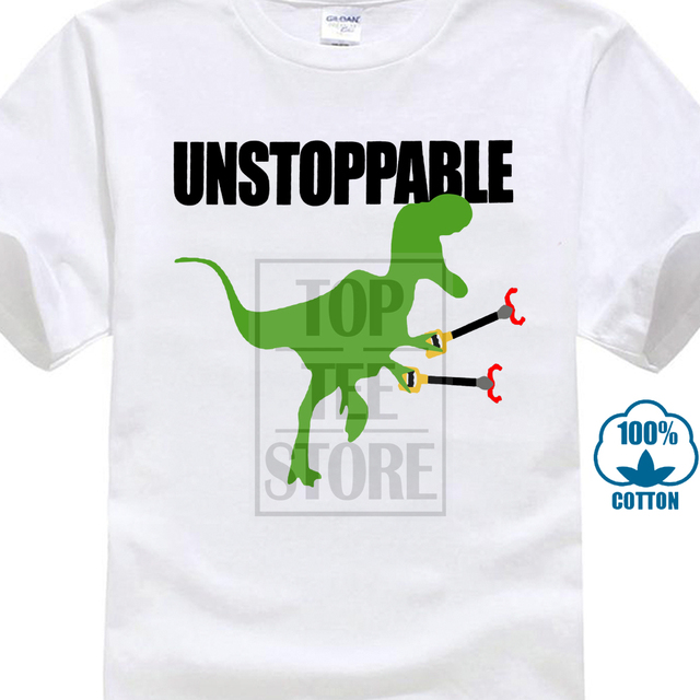 4195b698 Sleeve Harajuku Tops Mens Cotton Novelty Funny Dinosaur Gift Idea  Unstoppable T Rex T Shirt Round Neck T Shirt