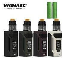 [Loja oficial] Original Wismec Reuleaux RX2 21700 Kit Com GNOME Do Tanque de 2 ml/4 ml 230 W vape cigarro eletrônico com bateria de 18650
