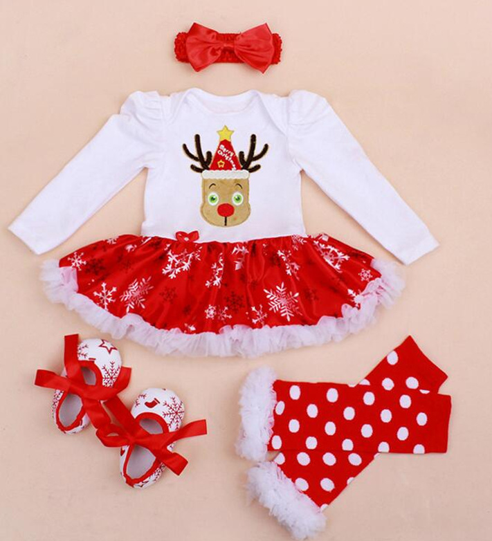 Infant Baby Girl Summer long Suit Novelty Costume Baby Christmas Clothing Sets Santa Rompers Birthday Party Cosplay Gift 4color