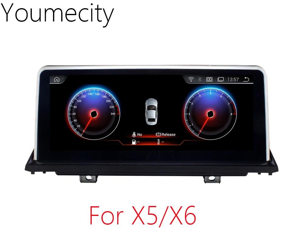 Youmecity 10.2 pouce De Voiture DVD GPS pour BMW X5 E70 2007-2013/BMW X6 E71 2007-2014 radio lecteur vidéo Android 7.1 Wifi Écran tactile