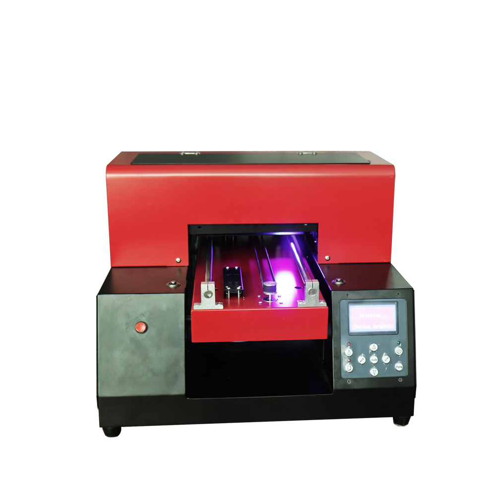 Small UV Flatbed Printer High Quality A4 Size LED Glass UV Printer Phone Case Printer PVC TPU Acrylic Wooden Printing Machine 6 color a3 size uv printer phone case printer led uv flatbed printing machine r1390 a3 uv printer for phone case acrylic metal