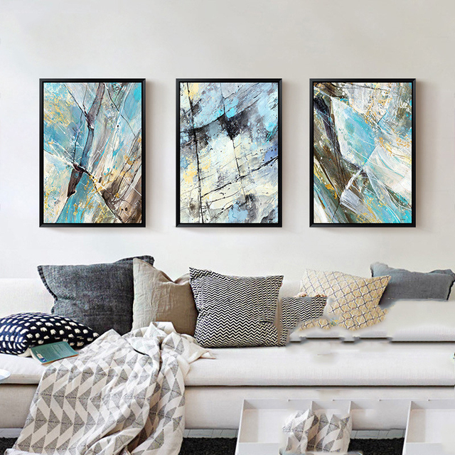 Piece Canvas Art Abstract Painting Scandinavian Nordic Decoration Picture For Living Room Painting Posters And
