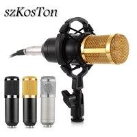 Новейший профессиональный конденсаторный микрофон bm800 микрофон для звук караоке Запись микрофон для компьютера Студийный микрофон