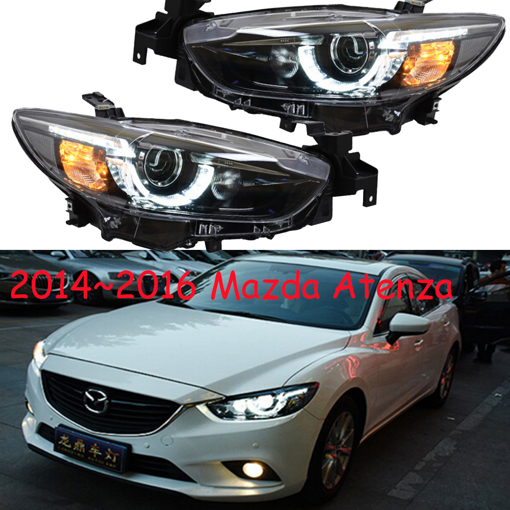 1set Car Styling for <font><b>mazda</b></font> <font><b>6</b></font> Mazda6 Atenza Headlight HID xenon 2014~2016y car accessories head lamp for Mazda6 Atenza <font><b>taillight</b></font> image