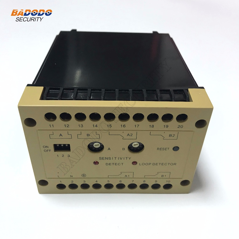 US $61 9 |Free shipping DLD 600 110V/220V Dual Relay Output 2 Channel  Traffic Inductive Loop Vehicle Detector Dual Control-in Car Parking  Equipment