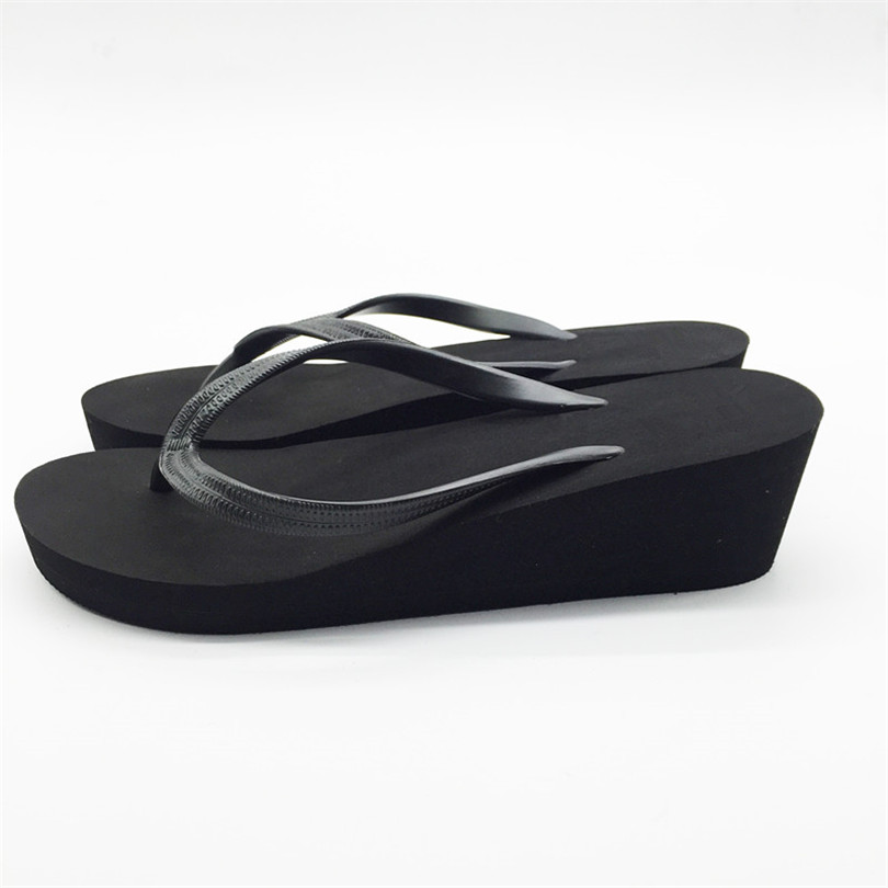 f2465769f080 LIN KING Fashion Thick Sole Women Flip Flops Casual Girls Antiskid Summer  Slippers Solid Outside Beach Platform Shoes Plus Size -in Flip Flops from  Shoes on ...