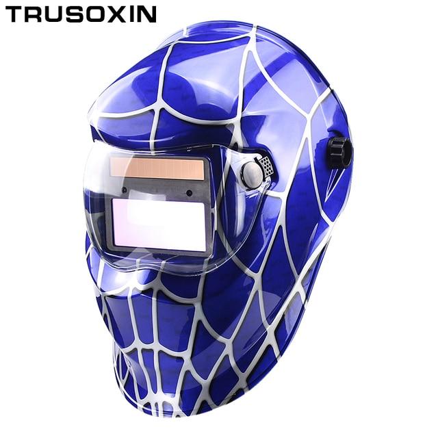 eda0722bdf105 Solar Auto Escurecimento Capacete de Soldagem Máscara de Solda Óculos de  Soldador Máscara