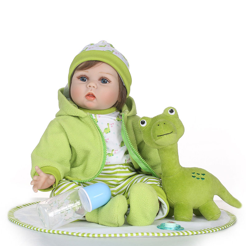 55CM Vinyl Jointed Reborn Doll Lifelike House Play Baby Dolls for Kids Playmate Christmas Gift M09 55cm vinyl jointed reborn doll lifelike kids baby dolls for infant playmate christmas gift m09