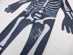 Image 4 - Skull Paratrooper Cosplay Costume Children Streetwear Costumes Boys Overalls Fortnited Cosplay Children Halloween Festive Evenin