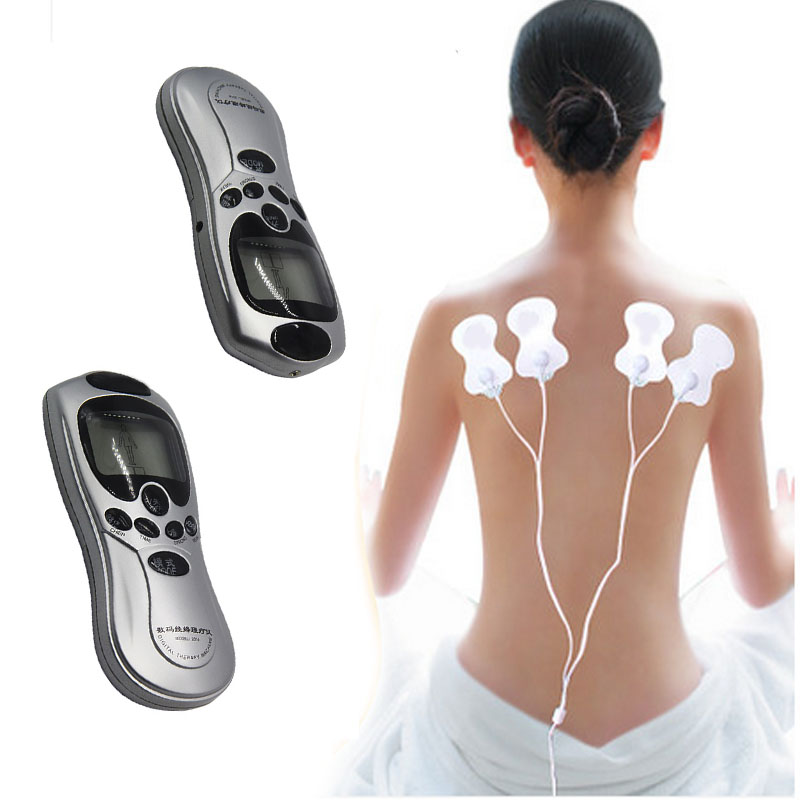 Health Care Tens Acupuncture Electric Therapy Antistress Massager Pulse Body  Sculptor vibrator Apparatus 4 Electrode Patches low frequency laser pulse rhinitis treatment anti snore apparatus sinusitis nose therapy massage health care allergy reliever