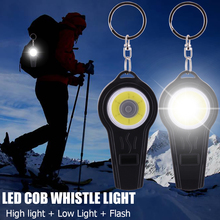 Outdoor survival whistle COB Led Lamp tent lamp Flash Light COB LED Camping Light Hook Lamp Camping Light D20