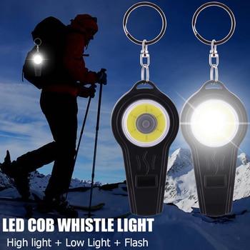 цена на Outdoor survival whistle COB Led Lamp tent lamp Flash Light COB LED Camping Light Hook Lamp Camping Light D20