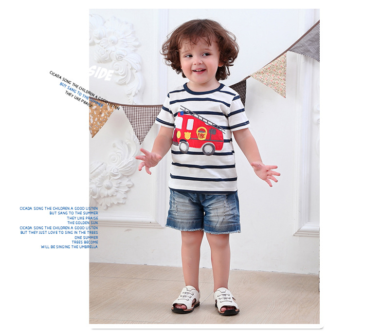HTB1H9AjQFXXXXbjXXXXq6xXFXXXp - 2017 New Brand top quality kids clothing summer boys short sleeve O-neck t shirt Cotton embroidery cartoon striped tee tops