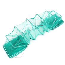 Bobing 3.2m Nylon Fishing Net Long Tube Fish Eel Shrimp Crab Lobster Trap Fishing Pot Cage Foldable Portable Tackle Tools