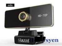 Webcam usb HD-70P độ nét cao máy ảnh máy tính desktop máy tính xách tay TV video microphone 720 P