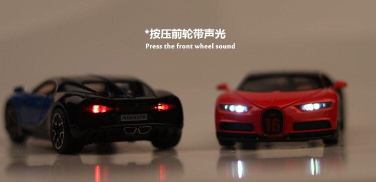 Bugatti Chiron Toy Car 15cm 34