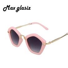 New 2015 Fashion Children Sunglasses vintage metal frame super cute Kids glasses Lovely Girls eyewear oculos de sol infantil