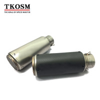 TKOSM 2018 Model High Quality Stainless Steel 60mm 51mm Universal Motorcycle Exhaust Pipe Laser Logo Muffler