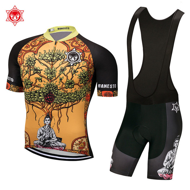 2018 Under the bodhi tree Cycling Jersey 9D GEL Pad Bike Shorts MTB Men s  Cycling Clothing summer bike wear maillot a2218e7f9