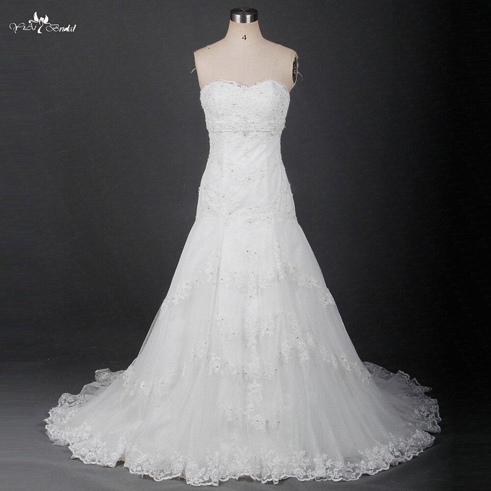 RSW1227 Dropped Waistline Sweetheart Neckline Sleeveless Vestido De Noiva