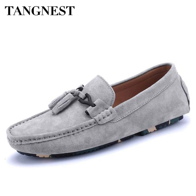 Men's Casual Fringes Low Top Slip On Faux Suede Loafers Shoes