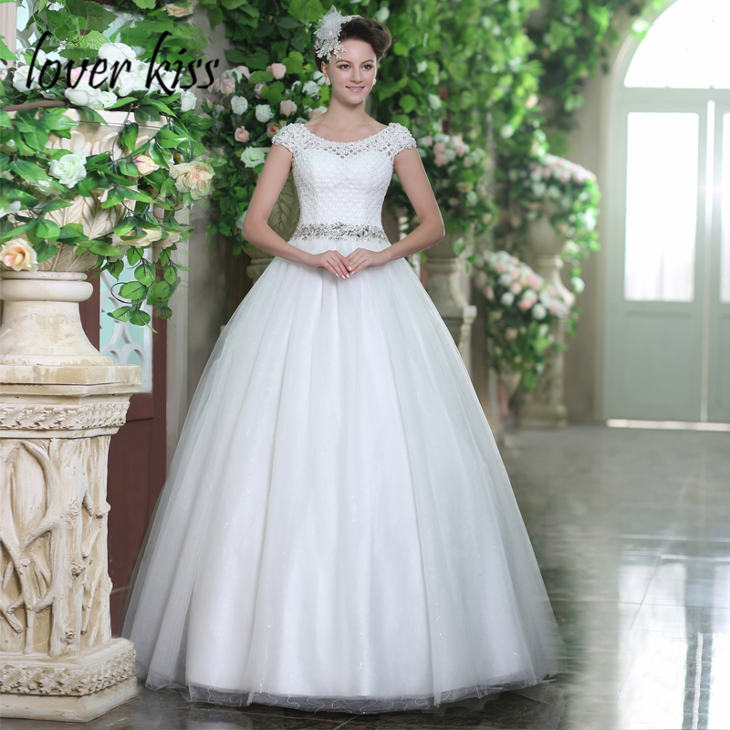 US $115.91 37% OFF|Lover Kiss vestido novia boho Shiny Sequined Tulle  Wedding Dress Cap Sleeve Plus Size Corset Bridal Gowns Beaded Online  Designer-in ...