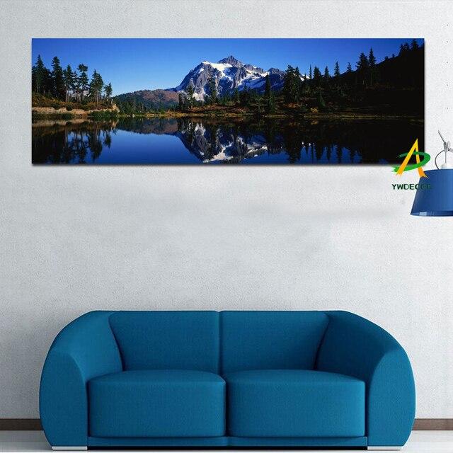 goedkope 50x150 cm digitale gedrukt sneeuw berg canvas schilderij rivier canvas prints print olieverf voor slaapkamer