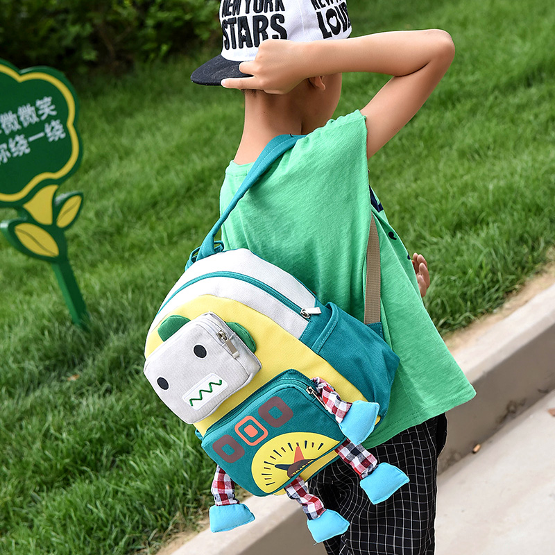 Children schoolbag Kids baby bag Kindergarten canvas Backpacks Cartoon  robot School Bags for girls boys Backpack Satchel mochila-in School Bags  from Luggage ... 07bd822c9491f