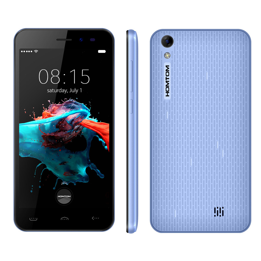 nueva original homtom ht16 13.ghz mt6580 quad core android 6.0 1280*720 5.0 \