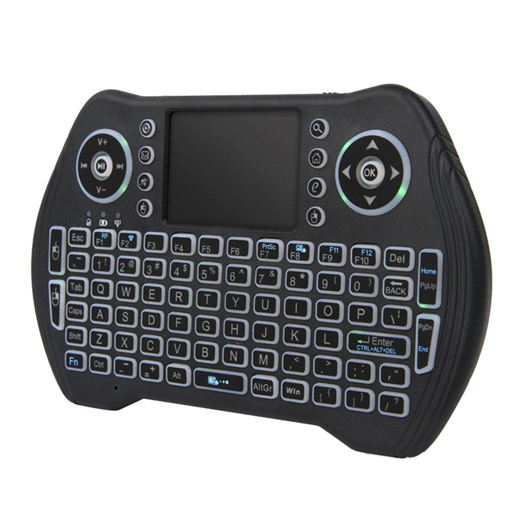 OMESHIN Backlit Keyboard MT10 2.4GHZ Mini Wireless Bluetooth 3 Color Touchpad Support PC Pad Andriod TV Google PS3 HTPC 118A
