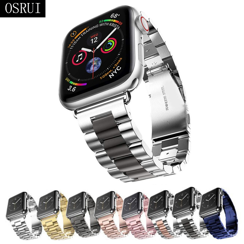 Strap For Apple Watch Band 44mm 40mm 38mm 42mm Stainless Steel Bracelet Apple Watch 4 Correa IWatch Series 4 3 2 1 Accessories