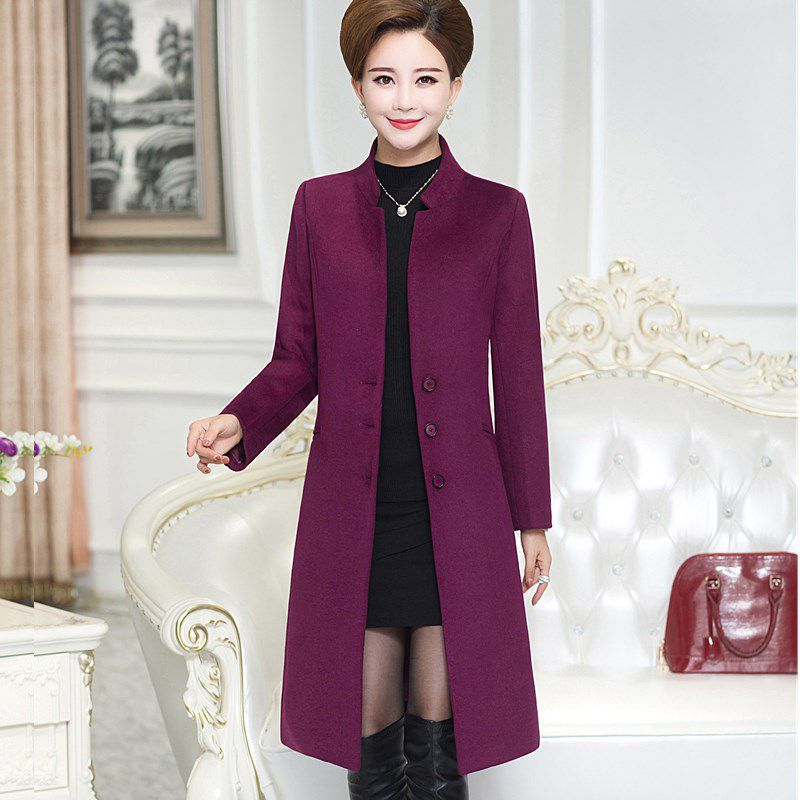 2017 Limited Promotion Full O neck Bayan Kaban Coats Middle Aged Jacket Long Paragraph Coat Mother