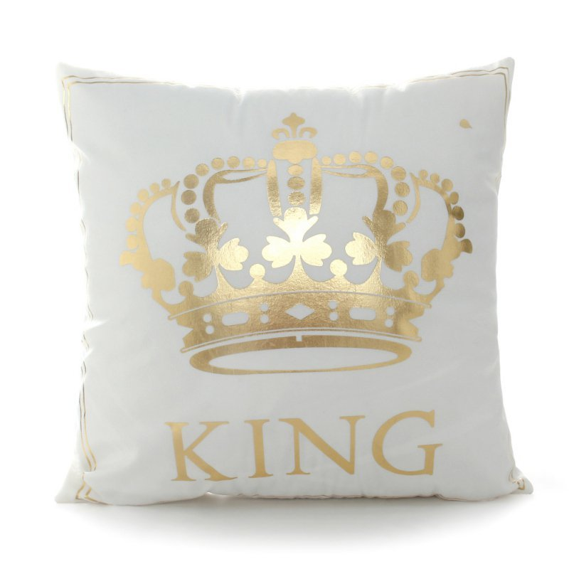 45x45cm Home Bronzing Pillowcase King Queen Letter Moon Lip Cute Throw Pillow Covers Decorative Square Pillowcase