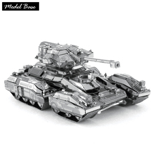 Adult 3D Puzzle Metal DIY Assembled Educational 3D Model Dimensional Kids Jigsaw Teaser Metal Puzzle HALO -Tank Scorpion No.