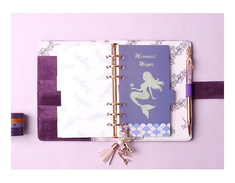 pasta organizador a6 planejador diário pessoal livro escritório e material escolar