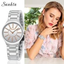 цена на SUNKTA Fashion Simple Style Women Watches Ladies Top Brand Luxury Ceramic Quartz Watch Female Bracelet Clock Ms Zegarek Damski