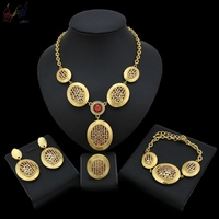 Yulail African Beads Jewelry Set Luxury Temperament Wedding Jewelry Sets For Brides Women Costume Jewellery Choker Necklace Sets