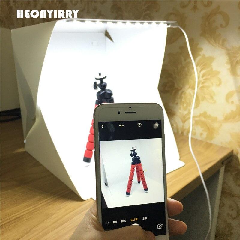 Newest Portable Folding Photography Softbox Lighting Kit Light box Photo Studio