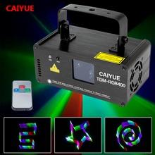 Pilot zdalnego 3D RGB 400mW DMX 512 skaner laserowy projektor efekt oświetlenia scenicznego Party Xmas DJ Disco pokaż Lights w pełnym kolorze światła