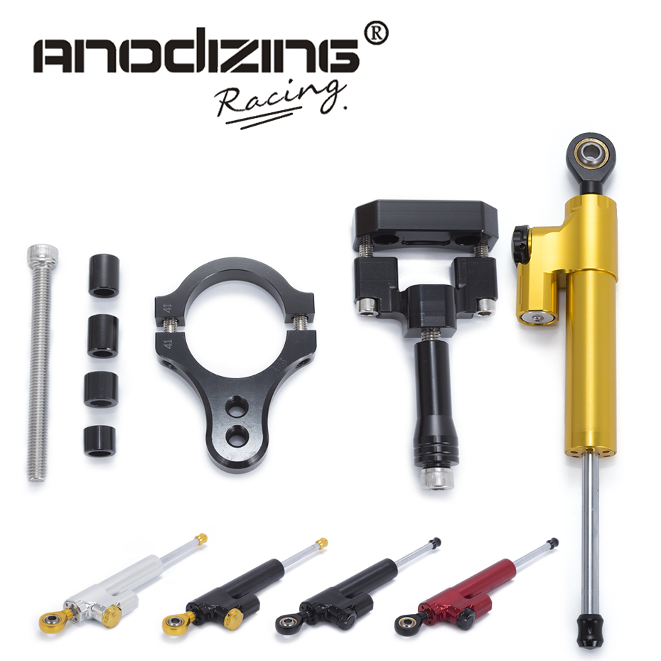 Motorcycle CNC Steering Damper Stabilizerlinear Reversed Safety Control with Bracket For Yamaha R3 2014 20015 2016 2017 gt motor motorcycle cnc steering damper stabilizerlinear reversed safety control with bracket for yamaha mt09 mt 09 fz 09 13 17