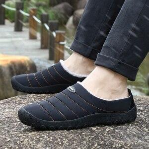 Image 5 - ฤดูหนาวผู้ชายรองเท้าผู้ชาย Plush รองเท้าแตะขนแกะขนสัตว์ผ้าฝ้าย เบาะบ้านรองเท้าแตะในร่มรองเท้าแบน PLUS ขนาด flip Flops
