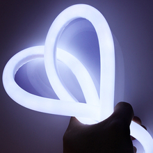 Led Neon Tube LED Strip 360 Round AC 220V 230V 240V SMD2835 Flexible Neon Strip With Power Plug Decorative Light 1-10m 15m 20m