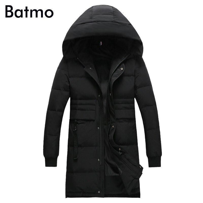 Batmo 2017 new arrival high quality white 80% duck down warm hooded jacket men,winter coat men,Windproof,plus-size M-3XL B36